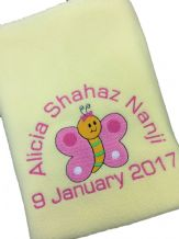 PERSONALISED BABY BLANKET Butterfly